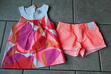 Outfit Gymboree,Bright and Beachy,NWT,top,shorts,2 pc.set,sz.6,8 yrs