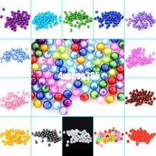 Wholesale 8mm 50pcs Charm Acrylic Seed Round Spacer Beads Craft Jewelry Making