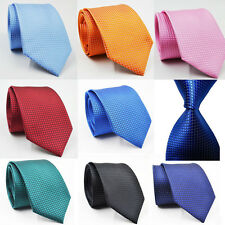 Fashion Classic Checks Jacquard Woven Silk Men's Tie Necktie Wedding Party UK