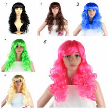Womens Ladies Long Wavy Curly Hair Synthetic Anime Cosplay Party Full Wigs J46