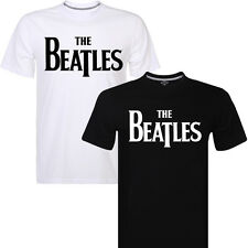 Men's T-shirt The Beatles Distressed Logo Print Mens Clothing Short Sleeve Tee