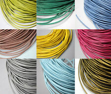 60 colors-5 Yards 2mm Round Real Leather Cords, 2mm Cowhide Leather