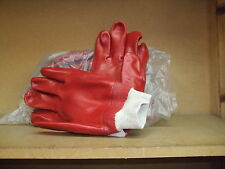 Red PVC Knitted Wrist Work Gloves Size 10 x 120 pairs