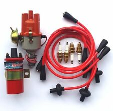 AccuSpark SVDA Electronic Distributor, Sports Coil, Red Leads & Spark Plug Set