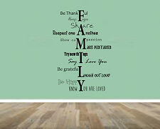 Family Home Quote, rules, Vinyl Wall Art Sticker, Mural, Decal. Living room