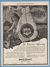 1918 Morris Supreme Bacon Ham Easter Offering rabbit bunny Kitchen Decor Art Ad