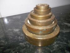 SET OF VINTAGE BRASS WEIGHTS AVERY  Kitchen Scales