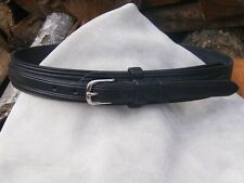 "Hand Made English Bridle Leather Ranger Belt - Brass or Stainless 3/4"" Buckle"