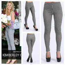 NEW WOMENS LADIES CASUAL CELEBRITY INSPIRED STRETCH GINGHAM CHECK PRINT LEGGINGS