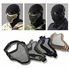 Outdoor CS Tactical SKULL Mask Airsoft Metal Steel Wire Half Face Mesh Masks