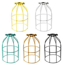 Industrial Retro Bulb Guard Clamp On Lamp Squirrel Cage Pendant Trouble Lights