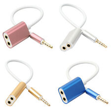 1 Male to 2 Female Audio Cable Splitter Headphone Adapter for Phone MP3 Retro