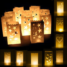 10x Luminary Candle Lantern Paper Bag Party Wedding/Birthday/Christmas Favour