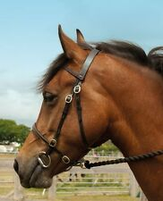 BRAND NEW * WINDSOR * LEATHER INHAND IN-HAND SHOW BRIDLE WITH TWIN CHAIN LEAD *