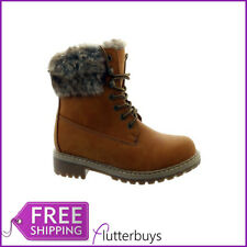 New Womens Camel Walking Hiking Rambling Work Ankle Boots Fur Lined Size 3