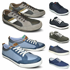 New Mens Casual Lace Up Flat Plimsolls Canvas Trainers Shoes Pumps Sizes UK 6-12