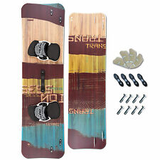 LEICHTWIND KITEBOARD ~ TRANS SESSION WOOD 161 x 44 + PADSET + FINNEN + HANDLE