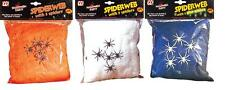 100g spiderweb with 5 small plastic spiders Halloween party decoration