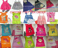 * NEW GIRLS 2pc or 3pc KIDS Headquarters SUMMER OUTFIT SET 2T 3T 4T 5 6 6x