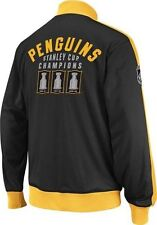 Pittsburgh PENGUINS Officiallly Licensed NHL Stanley Cup Tracker CCM Jacket,