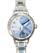 Ice Skating Figure Skating Italian Charm Watch (Battery Included)