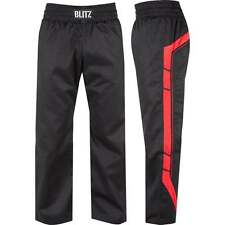 Blitz Sports Classic Polycotton Elite Full Contact Trousers - Black Red