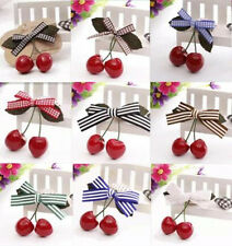 2pcs Hairpin Cherry New Baby Child Girl Hot Hair Pin Clips Hair Accessories