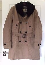 Burberry Cotton Parka Shearling Collar Warmer Trench Brand New BNWT UK Large L