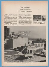 1969 Bell Helicopter Citizens Southern Bank Atlanta GA Jet Ranger Helipad Pic Ad