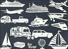 LOT 4-24 PC SUB-SETS TRAVEL DIE CUTS* CRUISE TRAILER TRAIN PLANE BOAT SUV *READ!