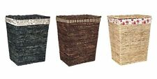 LARGE DELUXE WICKER LAUNDRY BASKET WASHING HAMPER BIN CLOTHES STORAGE BOX LIDDED