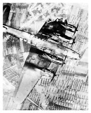 Silver Halide Photo WW II Invasion Of Sicily Aerial View Of US Plane Going Down