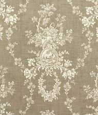 """Drapery Panel in """"Country House Toile"""" Natural ~ Matching Valances Available"""