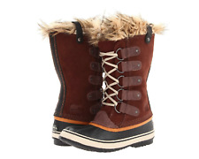 SOREL Women's Joan Of Arctic Boots Winter Snow Fur Trim Tobacco/Sudan Brown