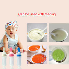 Soft Siliconce Feeding Bottle Infant Newborn Baby Food Dispensing Feeding Spoon