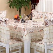 Tablecloth Chair Covers Damask Lace Polyester Rustic Vintage Jacquard Floral