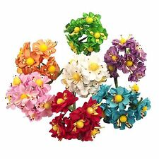 2x Bunches of 6 Paper Anemone - Craft Flowers Embellishment Mini Scrapbook
