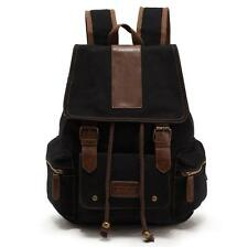 Women Men's Canvas Vintage Backpack Casual School Shoulder Bags Travelling Bag