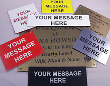 Engraved Plaques, Signs and Labels in Various Colours