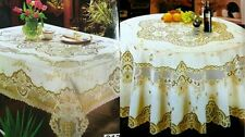 Table new dining mat decoration placemat Gold Flower lace table cloths elegant