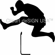 Track Runner Hurdling Vinyl Wall Art Design Home Decor Decal Sports Sticker Jump