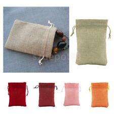 Pack of 10 Drawstring Burlap Bags Pouch Wedding Party Christmas Gift Bags 9*13cm