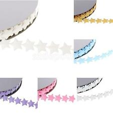 20yards Polyester Stars Lace Sewing Ribbon Trims Wedding Xmas DIY Decor Craft