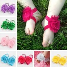2PCS Infant Toddler Baby Boys Girls Foot Flower Kids Cloth Hair Band Accessories