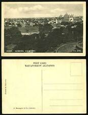 India Old British Indian B/W Postcard Agra General View