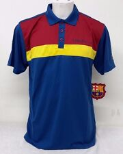 FC Barcelona Men's Polo Shirt Official Licensed NWT100% Polyester