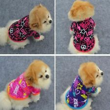 Cute Pet Dog Cats Warm Clothes Jackets Puppy Print T-Shirt Coat Costumes HOT