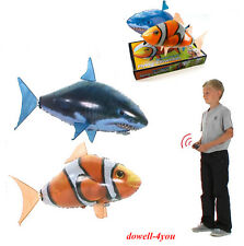 Air Swimmer Remote Control RC Flying Inflatable Fish Shark Blimp Balloon Xmas GF
