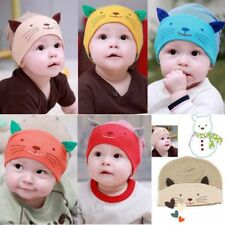 Lovely Baby Girls Boys Toddler Infant Striped Soft Cotton Cap Cartoon Cat Hat