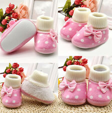 1 Pair Soft Sole Boots Warm Newborn Toddler Girl Charm Cute Infant Shoes Baby